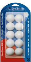 Pack of 10 White Garlando Table Footballs