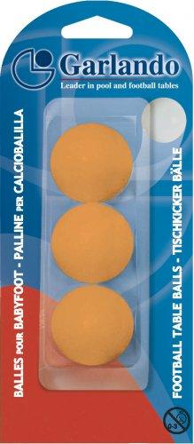 Garlando Table Fooballs Pack of 3 Orange