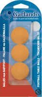 Garlando Table Fooballs Pack of 3 Orange